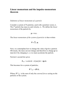 Linear momentum and the impulse