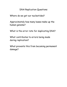Questions on DNA Replication and Enzymes used in DNA replication