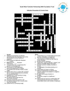 IPC crossword quiz - South West Yorkshire Partnership NHS