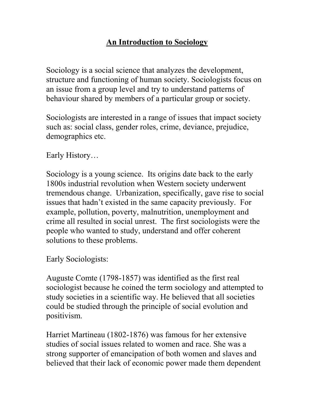 social problems sociology examples