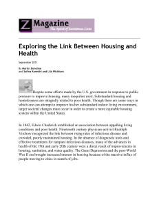 Exploring the Link Between Housing and Health – Z Magazine