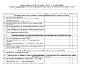 Language Standards: Common Core Grade 2 –(Standards Fig