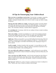 10 Tips for Encouraging Your Child to Read