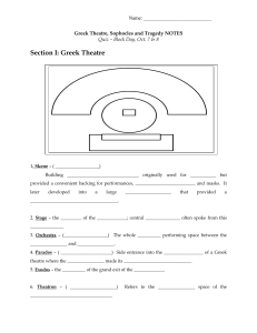 Greek Theatre, Sophocles and Tragedy NOTES