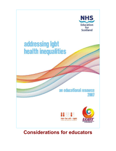 Considerations for educators planning LGBT training