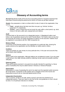 An explanation of accounting jargon
