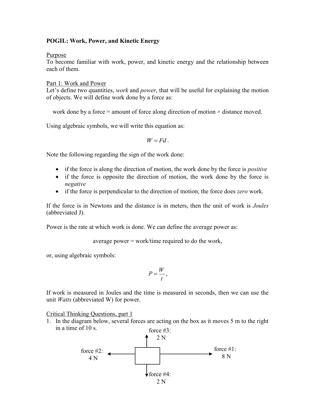 Worksheets Work Power And Energy Worksheet work power and energy worksheet answer key livinghealthybulletin