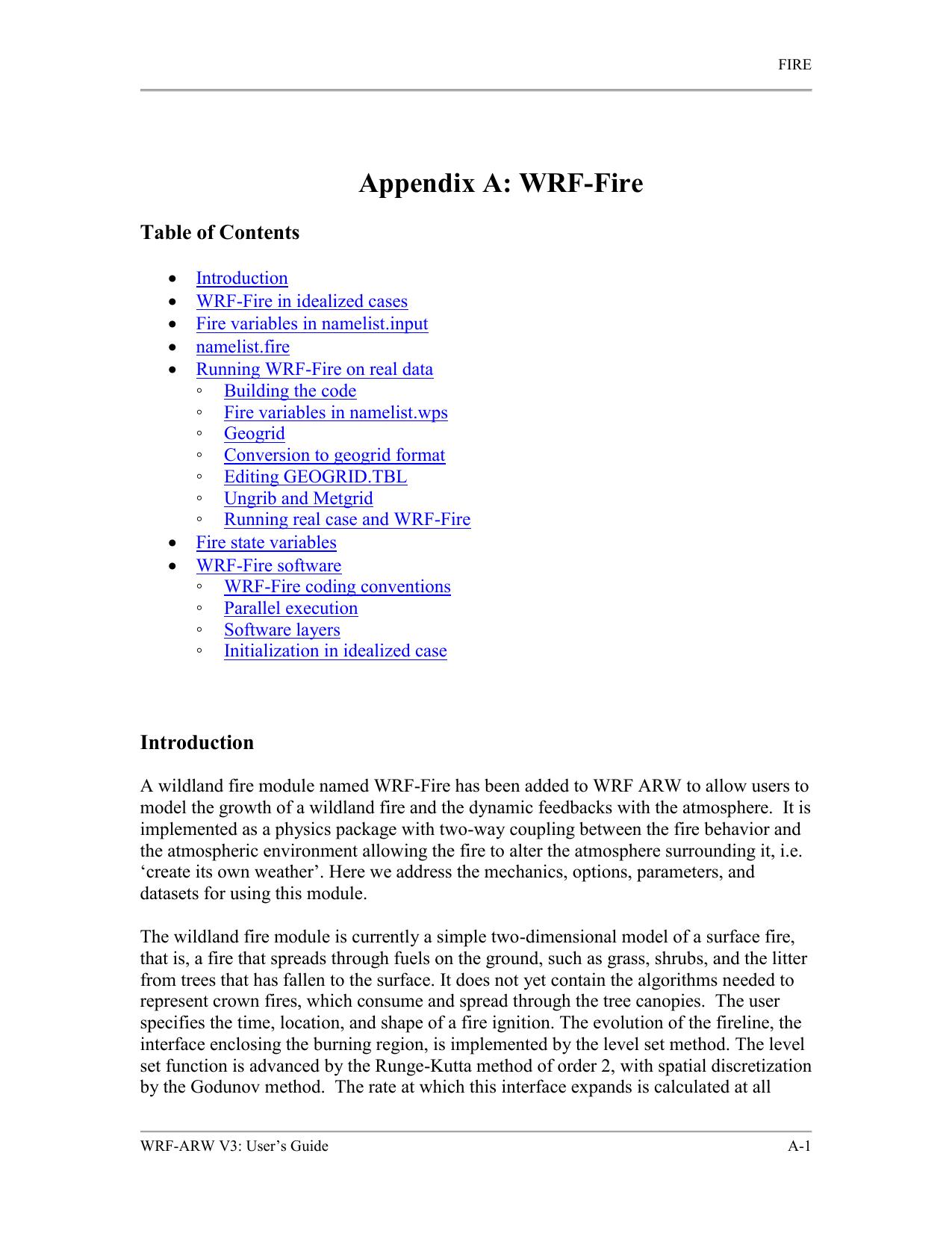 WRF-Fire