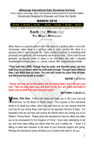 eBlessings International Daily Devotional Archives