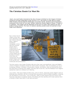 The Christian Zionist Lie Must Die