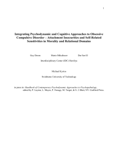 Integrating psychodynamic and cognitive approaches to obsessive