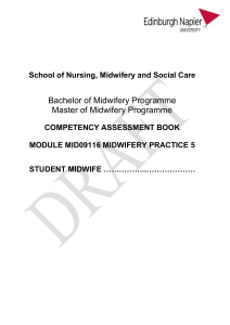 2016 Midwifery Practice 5 - Edinburgh Napier Staff Intranet