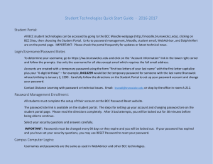 Student Technologies Quick Start Guide