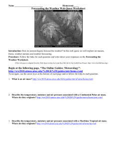 Forecasting the Weather Web Quest Worksheet - lslibrary