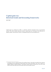Capital gains tax: historical trends and forecasting