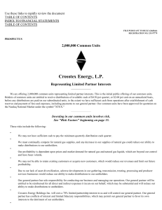 CROSSTEX ENERGY LP
