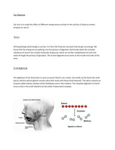 Effect of salivary content