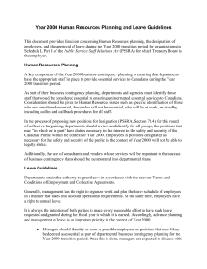 Year 2000 Human Resources Planning and Leave Guidelines