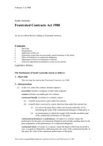 Frustrated Contracts Act*1988 - South Australian Legislation