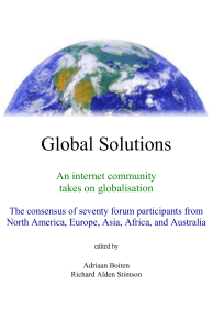 Global Solutions - Earth Emergency