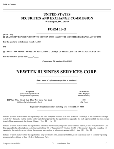 Newtek Business Services Corp. (Form: 10