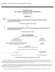 AON CORP (Form: 10-K, Received: 03/16/2005 06