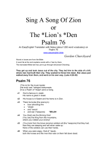 Psalm 76 - EasyEnglish Bible
