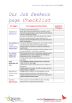 Our Job Seekers page Checklist - Disability Employment Australia