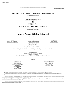Azure Power Global Ltd (Form: F-1/A, Received: 10/07