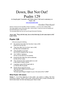 Psalm 129 - EasyEnglish Bible