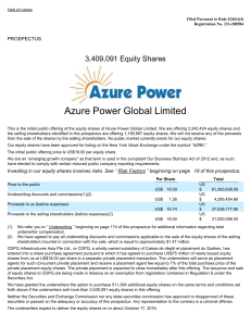 Azure Power Global Ltd (Form: 424B4, Received: 10/13