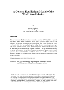 A General Equilibrium Model of the World Wool Market