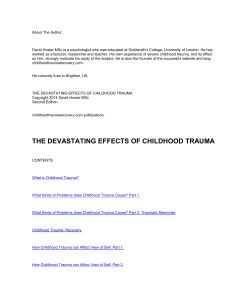 Effects on Sexuality of Childhood Trauma