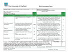 Risk Assessment Form - The University of Sheffield