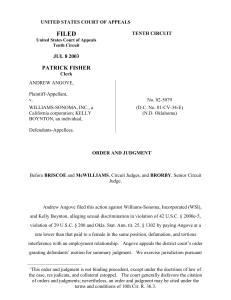 50814 bytes - US Court of Appeals, Tenth Circuit Opinions