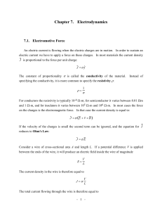 Chapter 7. Electrodynamics 7.1. Electromotive Force