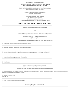 devon energy corporation