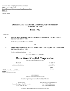 Main Street Capital CORP (Form: 10-K, Received: 02