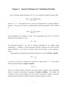 3.1. Solutions of Laplace`s Equation in One