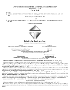 TRINITY INDUSTRIES INC (Form: 10-K, Received