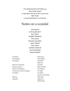 """Notes on a scandal"" to the screen"