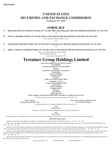 TEXTAINER GROUP HOLDINGS LTD (Form: 20-F