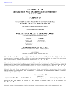 northstar realty europe corp. - corporate
