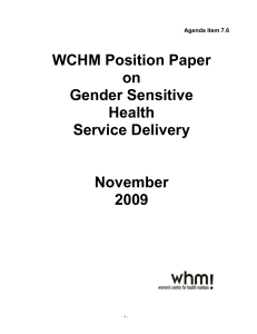 What is gender sensitive health delivery?