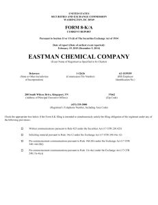 EASTMAN CHEMICAL CO (Form: 8-K/A, Received