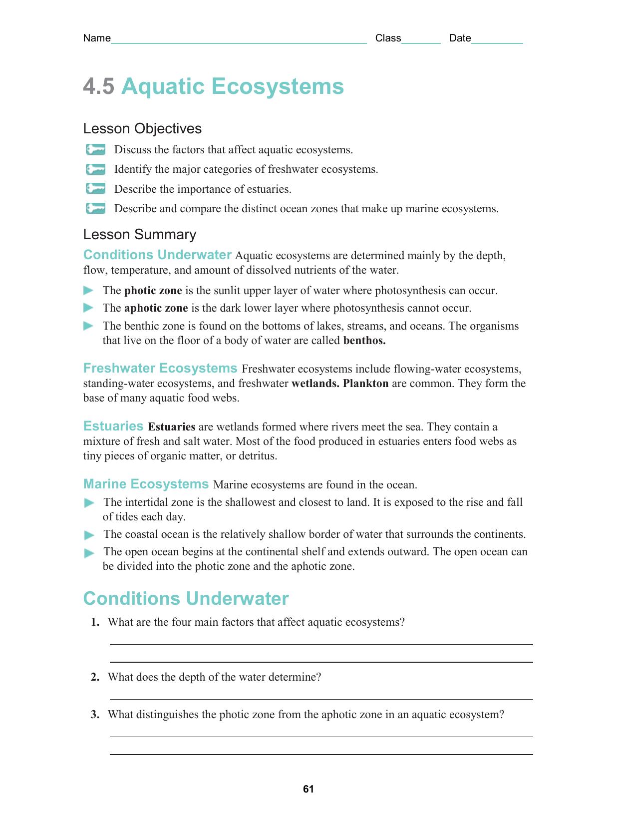 Section 4-5 worksheet