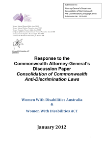 Multiple Discrimination - Women`s Centre for Health Matters
