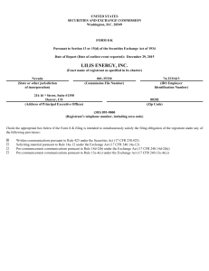 Brushy Resources, Inc. (Form: 425, Received: 01/07