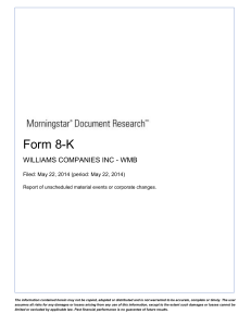 form 8-k current report - Morningstar Document Research