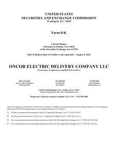 oncor electric delivery company llc - corporate